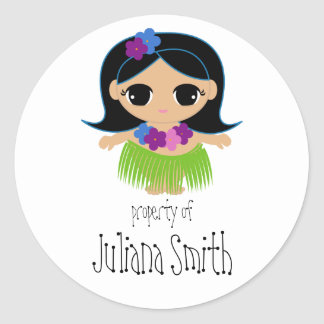 hula cutie BOOKPLATE book label