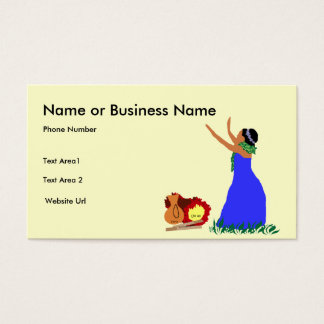 Hula dancer business card