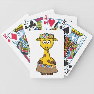 Hula Dancer Giraffe Cartoon Bicycle Playing Cards