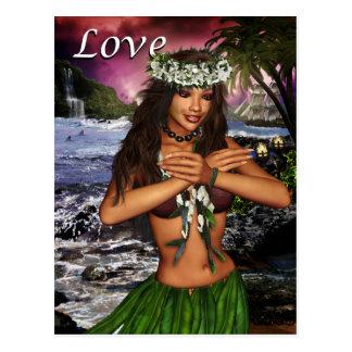 Hula Dancer Postcard
