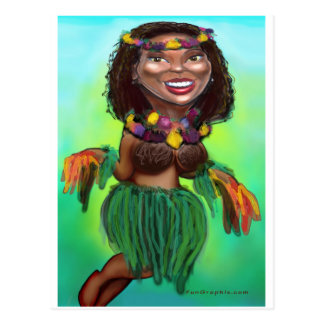 Hula Dancer Postcard