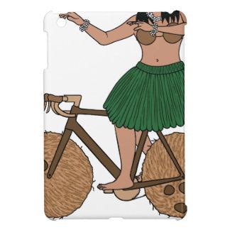 Hula Dancer Riding Bike With Coconut Wheels iPad Mini Cases