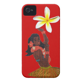 Hula Dancer with Tropical Plumeria iPhone 4 Cover