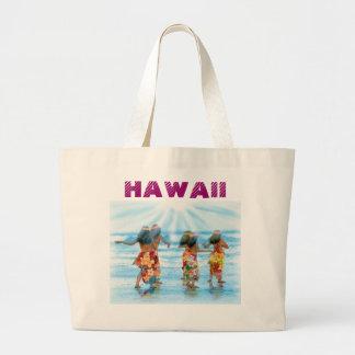Hula Dancers j pec venette, HAWAII Large Tote Bag