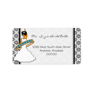 Hula Dancing Bride Address Labels