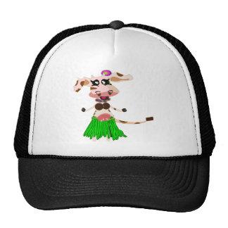 Hula Dancing cow Trucker Hat