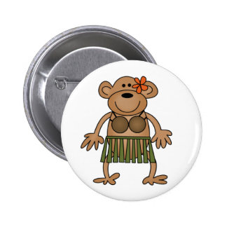Hula Dancing Monkey Button