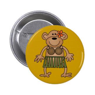 Hula Dancing Monkey Tshirts and Gifts Pinback Button