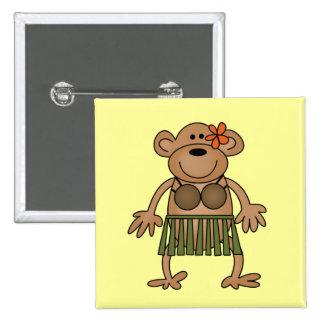 Hula Dancing Monkey Tshirts and Gifts Pin