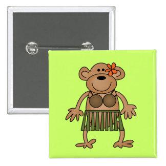 Hula Dancing Monkey Tshirts and Gifts Pins