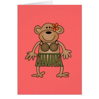 Hula Dancing Monkey Tshirts and Gifts Card