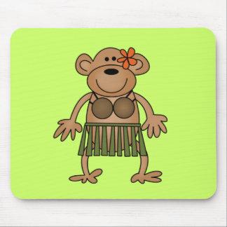 Hula Dancing Monkey Tshirts and Gifts Mouse Pad
