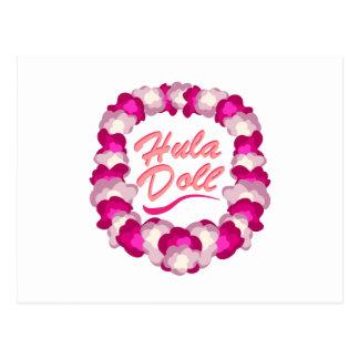 Hula Doll Postcard