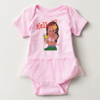 Hula girl body suit baby bodysuit