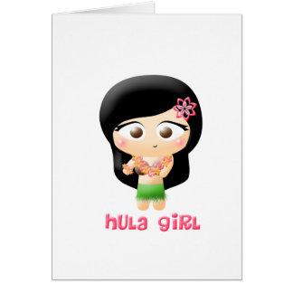 Hula Girl Card