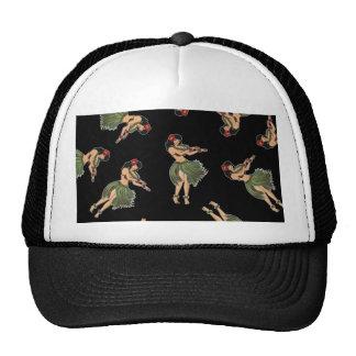 Hula Girl Dancing Pattern Trucker Hat