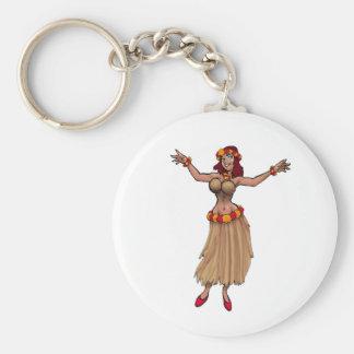Hula Girl Keychain