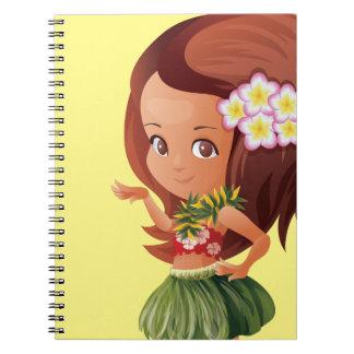 Hula girl notebooks