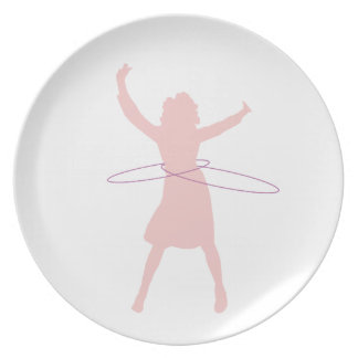 hula girl plate
