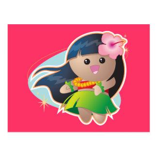 Hula Girl Postcard