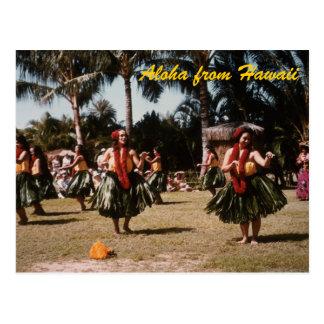 Hula Girls Postcard