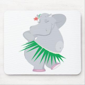 hula hippo mouse pad