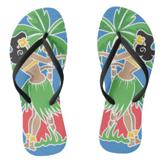 Hula Honey - Blue - Flip Flops