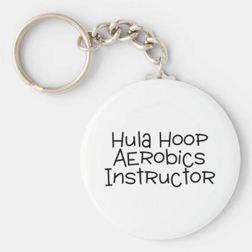 Hula Hoop Aerobics Instructor Keychain
