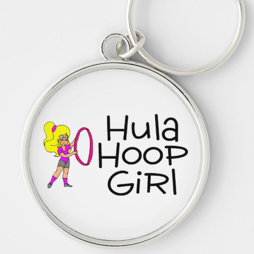 Hula Hoop Girl 2 Key Chain