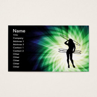 Hula Hoop Girl; Cool Business Card