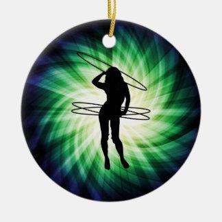 Hula Hoop Girl; Cool Ceramic Ornament