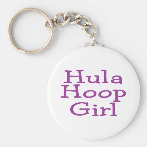 Hula Hoop Girl Key Chains