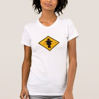 Hula Hoop Girl Traffic Sign T-Shirt