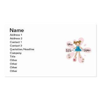 Hula Hoop New Big Sister Business Card Templates