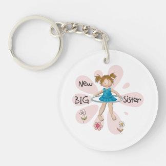 Hula Hoop New Big Sister Single-Sided Round Acrylic Keychain