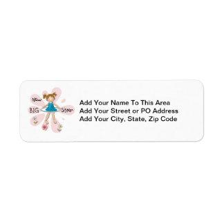 Hula Hoop New Big Sister Return Address Label