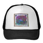 Hula Hoop Round Colourful Circles Trucker Hat