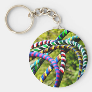 Hula Hooping in Style Key Chains