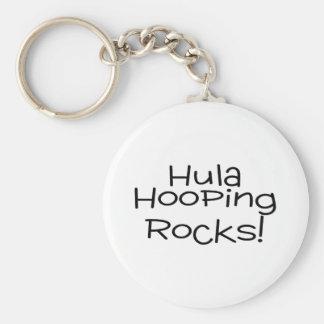 Hula Hooping Rocks Basic Round Button Keychain