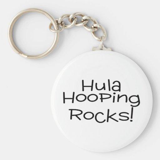 Hula Hooping Rocks Key Chains