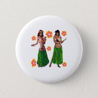 hula kaiko 2 inch round button