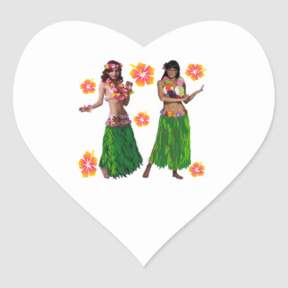 hula kaiko heart sticker