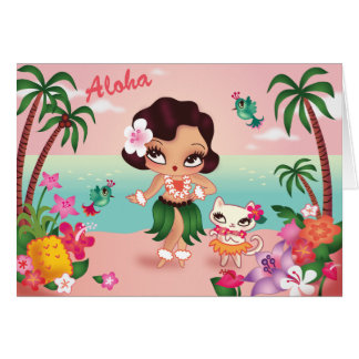 Hula Lulu's Island Paradise - greeting card