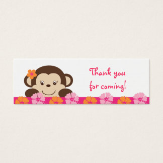 Hula Monkey Luau Party Favor Gift Tags