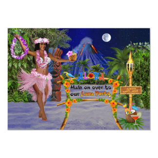Hula On Over To Our Luau Party Card