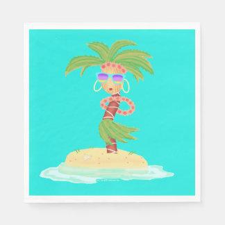 Hula Palm napkins Paper Napkin