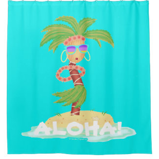 Hula Palm shower curtain / backdrop