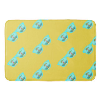 Hula Palm Sunglasses bathroom mat
