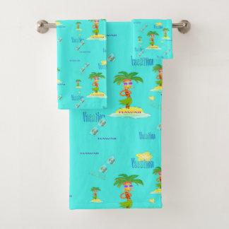 Hula Palm (vacation pattern) towel set