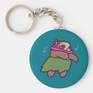 Hula Sloth Keychain
